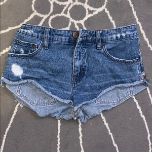 Free People denim shorts, size 25